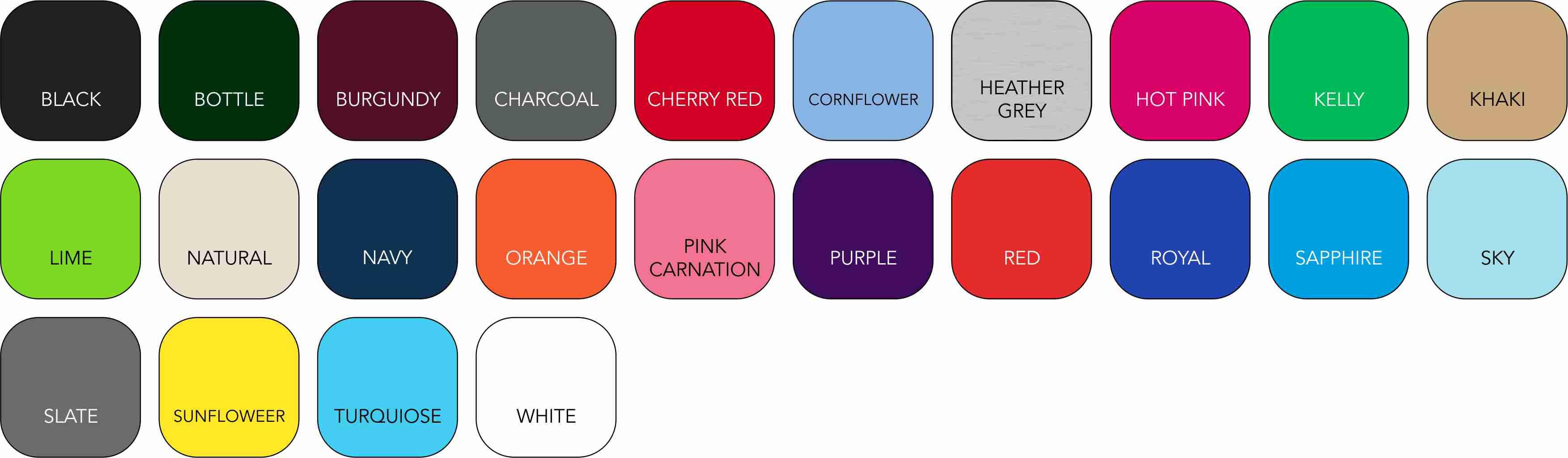 AQ010 Ladies' Colour Range