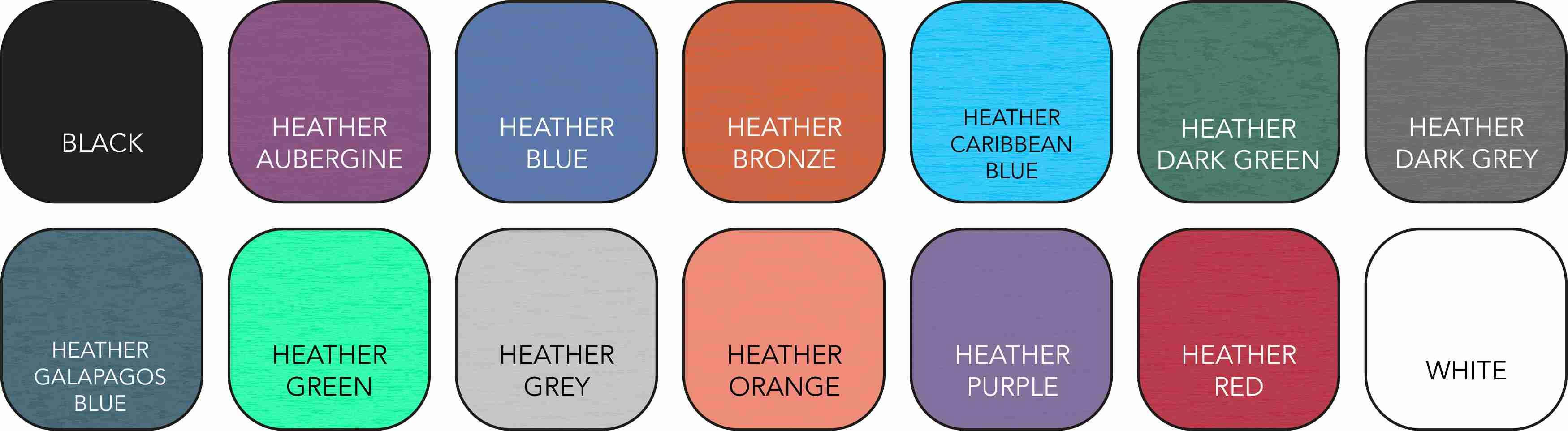 AV112 Unisex Colour Range
