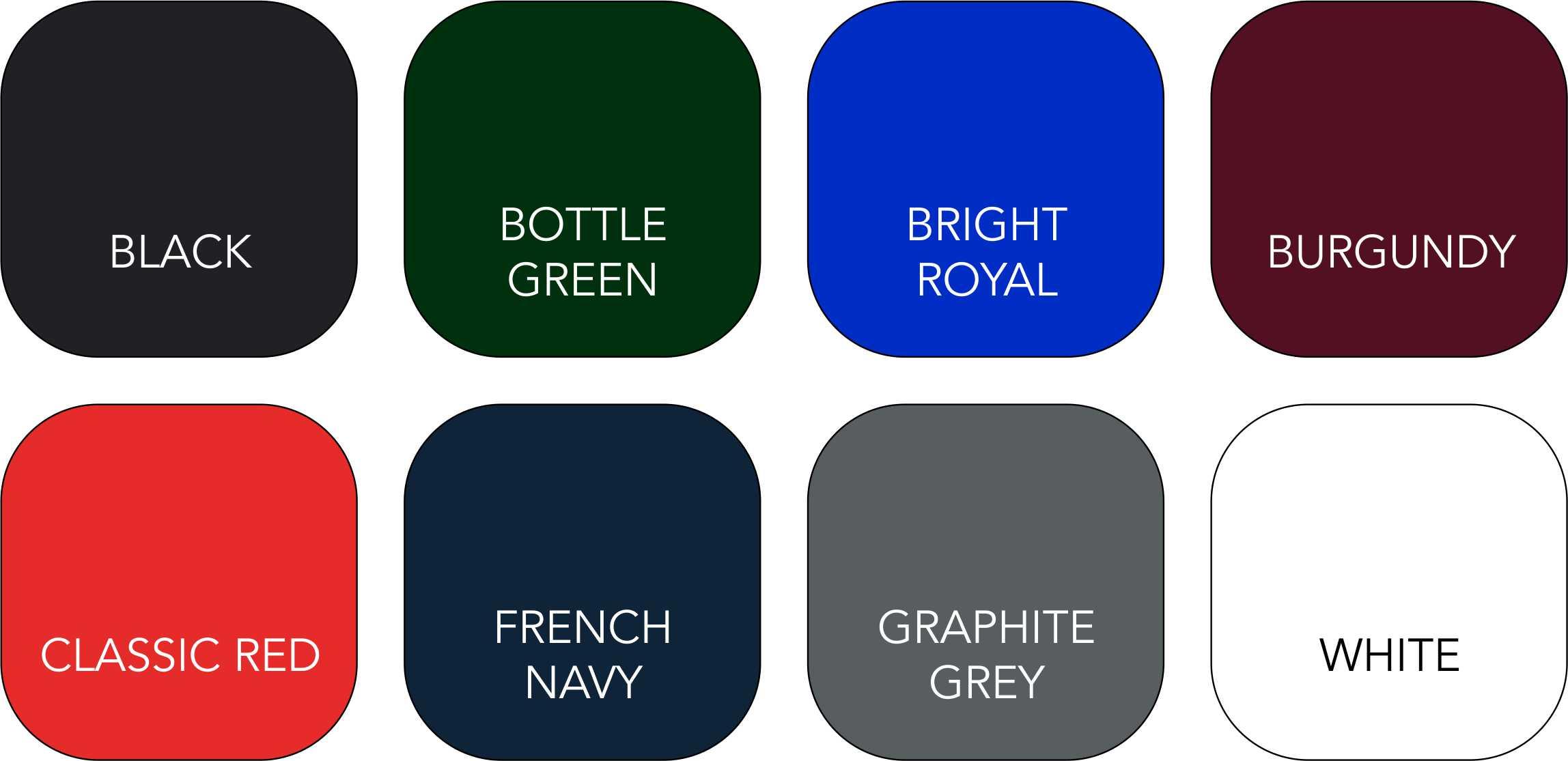 BC015 Colour Range