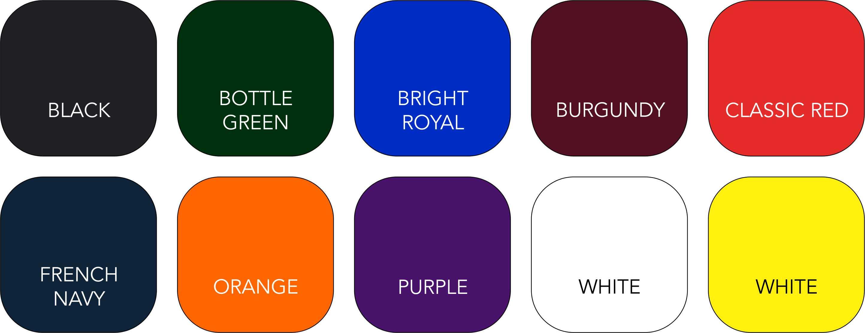 BC610 Colour Range
