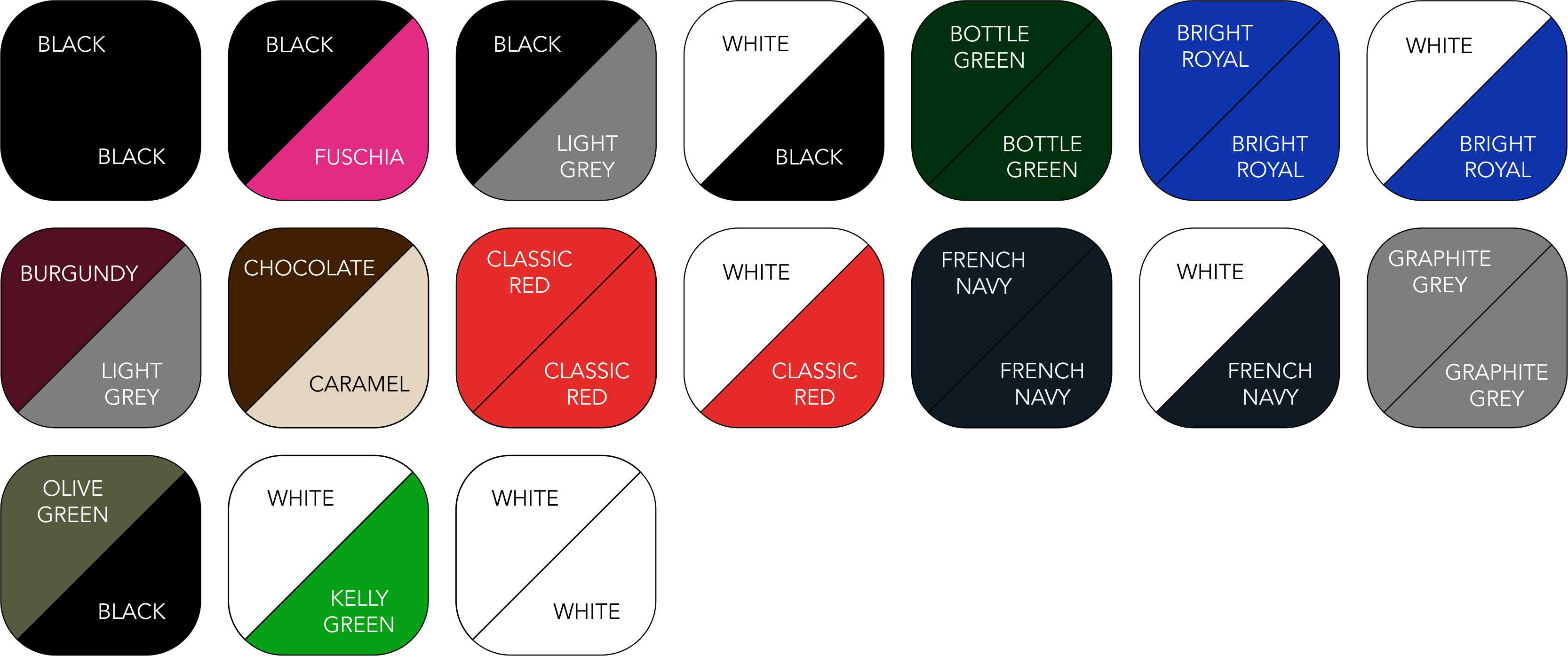 BC640 Colour Range