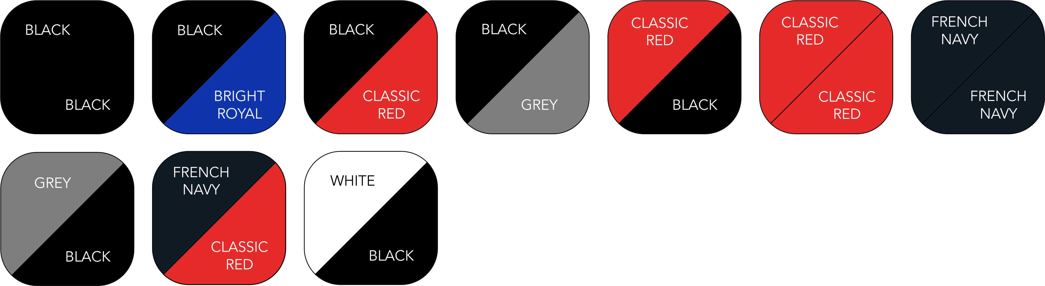 BC660 Colour Range