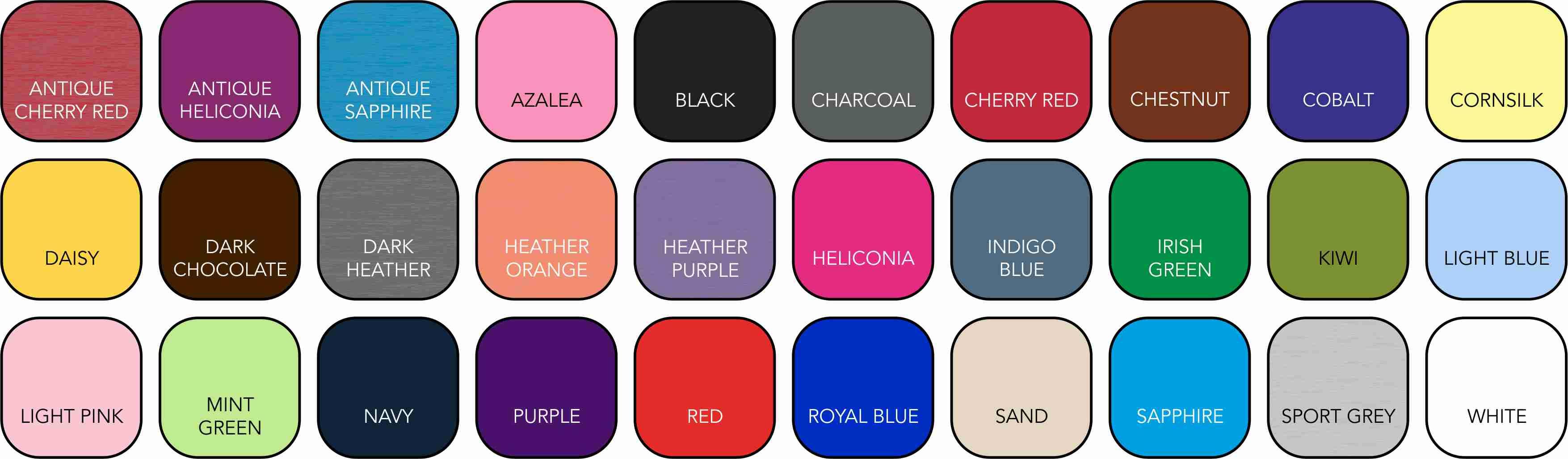 GD001 Ladies' Colour Range
