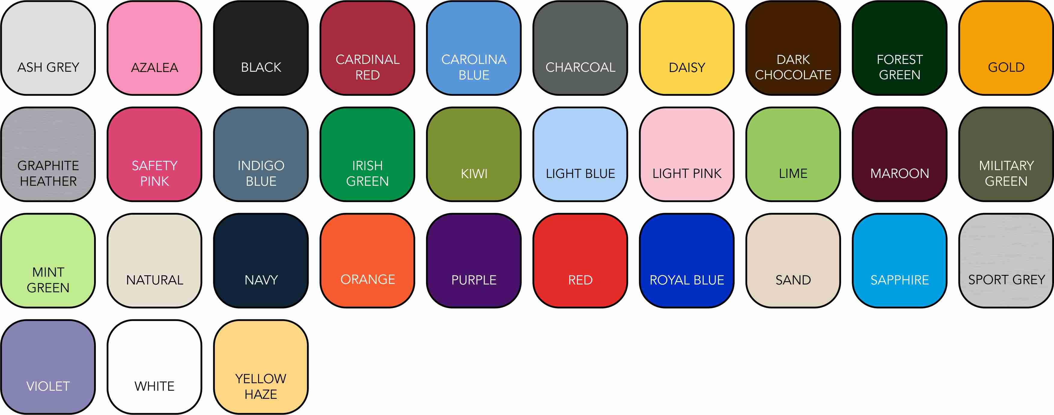 GD005 Children's Colour Range