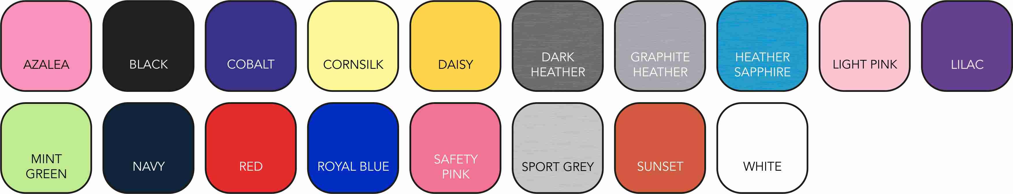 GD005 Ladies' Colour Range