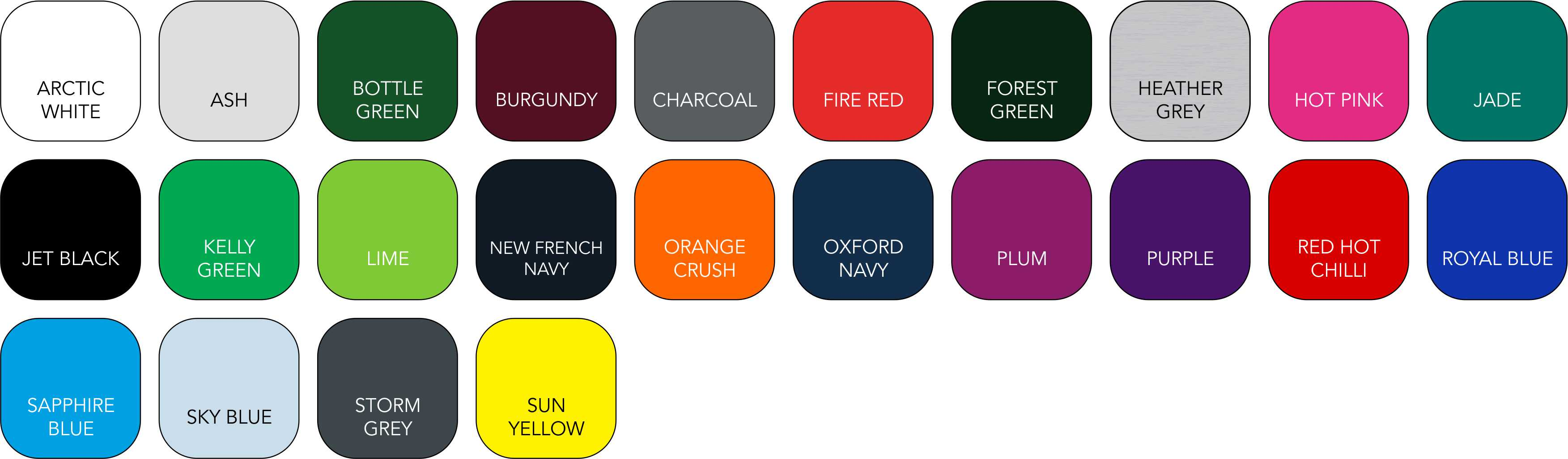 JH030 Children's Colour Range