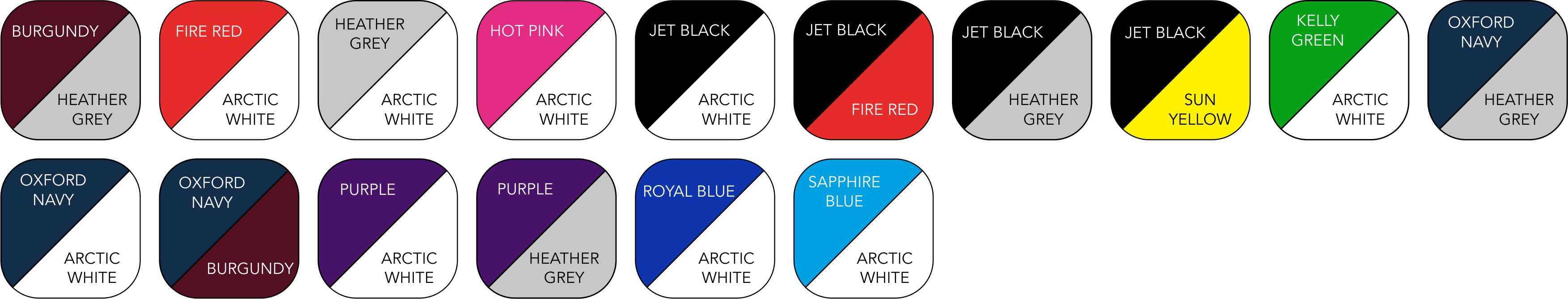 JH043 Unisex Colour Range