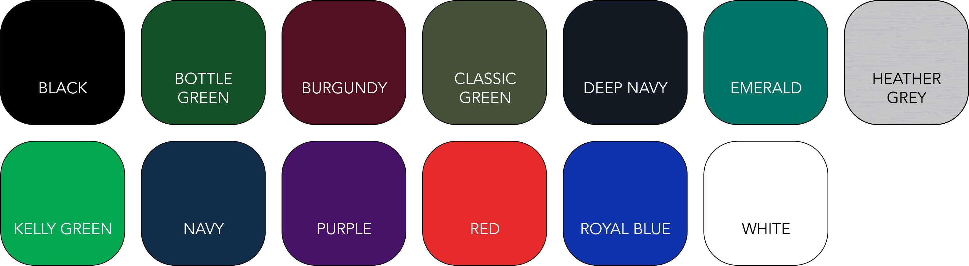 SS270 Unisex Colour Range